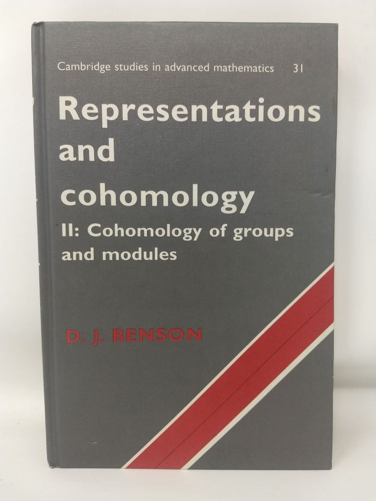 REPRESENTATIONS AND COHOMOLOGY, II : COHOMOLOGY OF GROUPS AND MODULES. D. J. Benson.