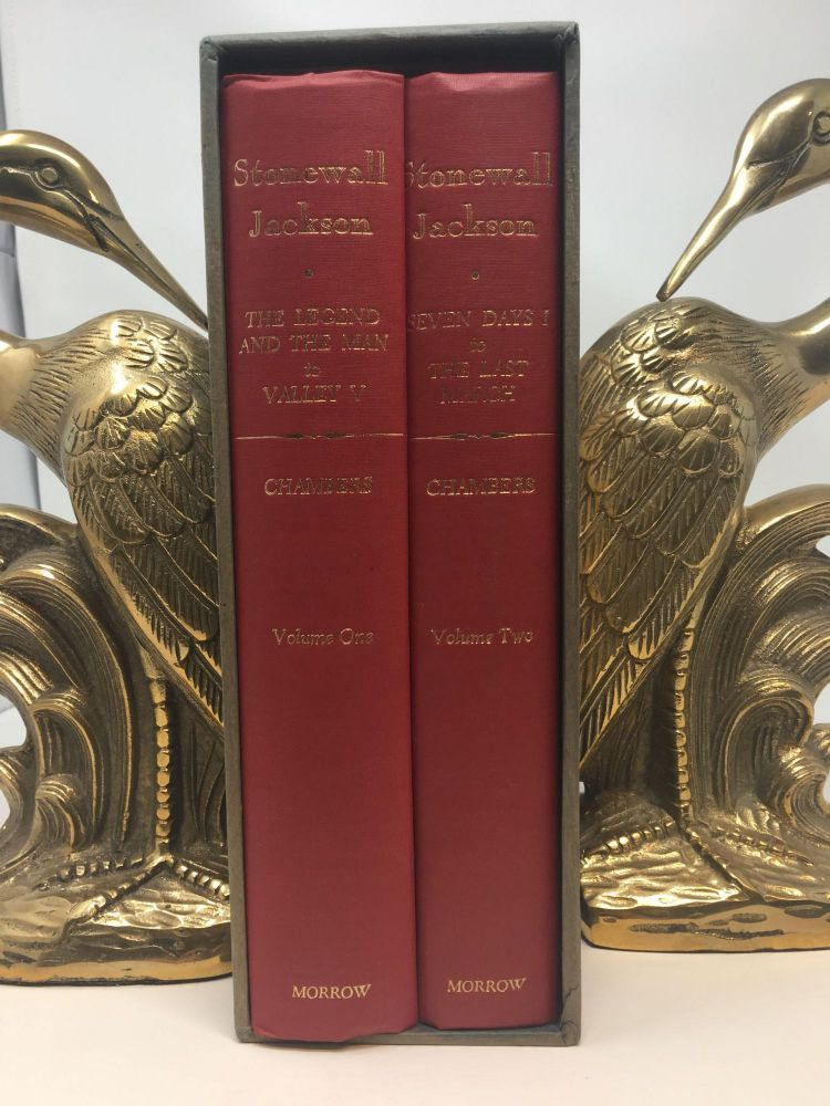 STONEWALL JACKSON. [TWO VOLUME SET IN SLIPCASE]; VOLUME I: THE LEGEND AND THE MAN TO VALLEY V. VOLUME II: SEVEN DAYS I TO THE LAST MARCH. Lenoir Chambers.