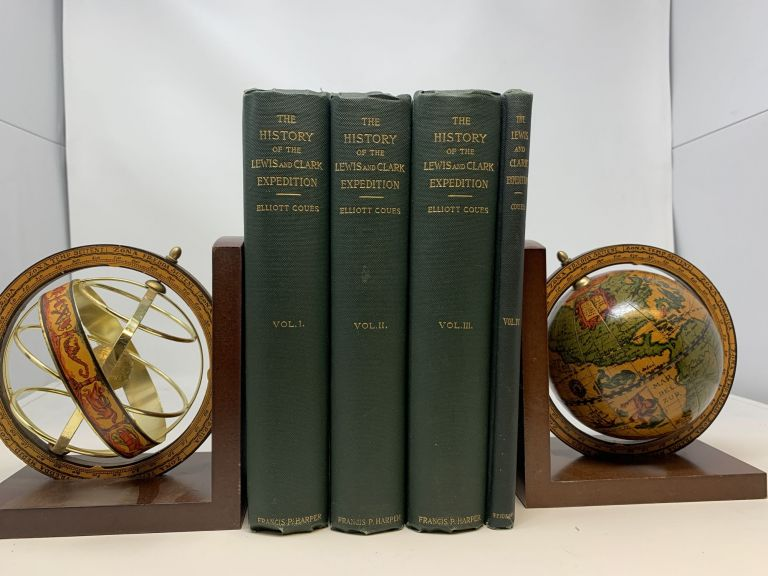 HISTORY OF THE EXPEDITION UNDER THE COMMAND OF LEWIS AND CLARK, TO THE SOURCES OF THE MISSOURI RIVER, THENCE ACROSS THE ROCKY MOUNTAINS AND DOWN THE COLUMBIA RIVER TO THE PACIFIC OCEAN, PERFORMED DURING THE YEARS 1804-5-6, BY ORDER OF THE GOVERNMENT OF THE UNITED STATES. (THREE VOLUMES); A New Edition. Faithfully reprinted from the only authorized edition of 1814, with copious critical commentary, prepared upon examination of unpublished official archives and many other sources of information including a diligent study of the Original Manuscript and Journals and Field Notebooks of the Explorers. Elliott Coues.