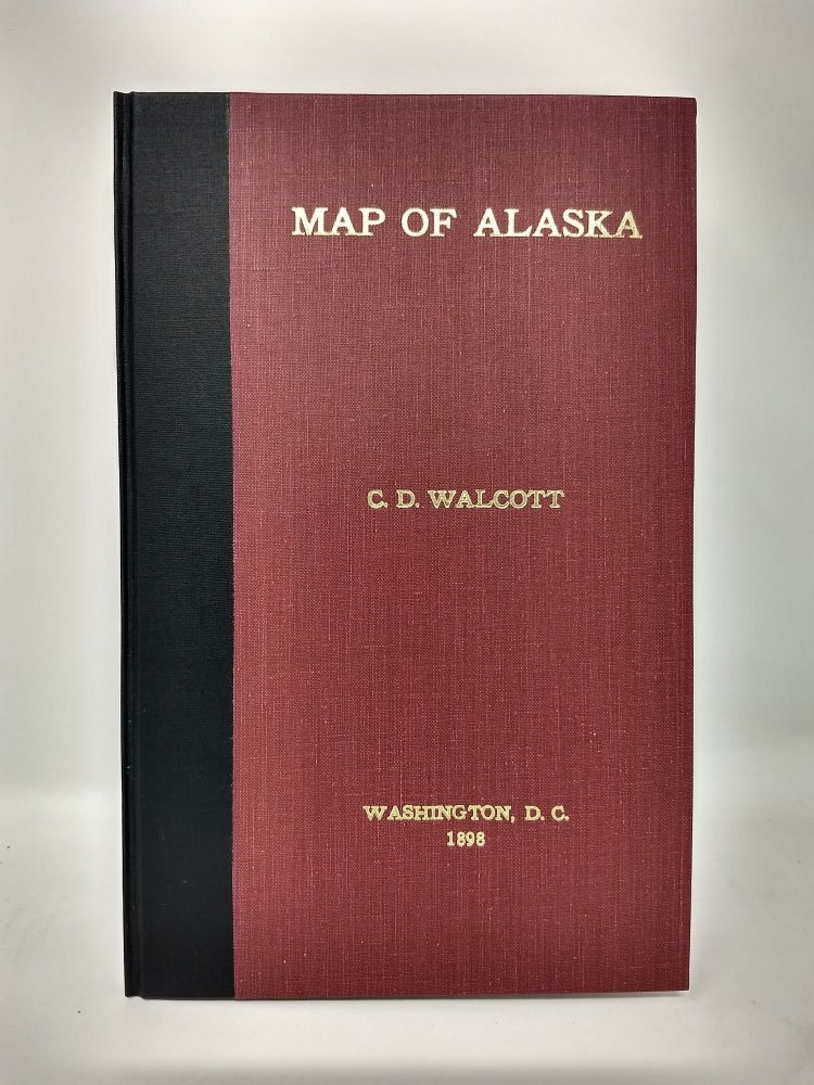 MAP OF ALASKA SHOWING KNOWN GOLD-BEARING ROCKS WITH DESCRIPTIVE TEXT CONTINUING SKETCHES OF THE GEOGRAPHY, GEOLOGY, AND GOLD DEPOSITS AND ROUTES TO THE GOLD FIELDS. S. F. Emmons, W. H. Dall, F C. Schrader.