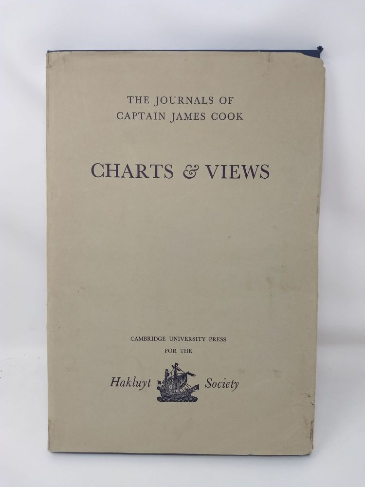 THE JOURNALS OF CAPTAIN JAMES COOK ON HIS VOYAGES OF DISCOVERY : CHARTS & VIEWS DRAWN BY COOK AND HIS OFFICERS AND REPRODUCED FROM THE ORIGINAL MANUSCRIPTS. James Cook, R A. Skelton, Captain.