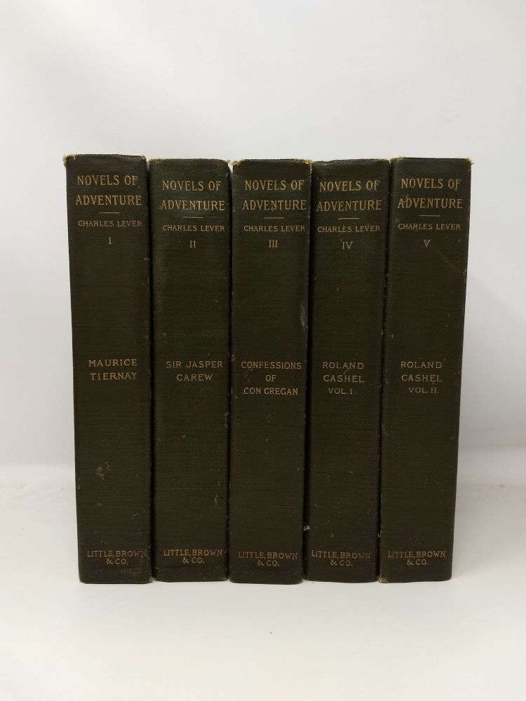 NOVELS OF ADVENTURE (5 Volumes); (The novels of Charles Lever). Charles Lever.