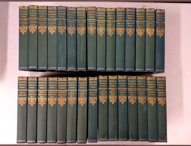 THE COMPLETE WORKS OF CHARLES DICKENS (COMPLETE SET, 30 VOLUMES). Charles Dickens.