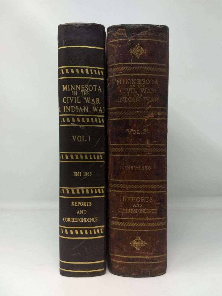 MINNESOTA IN THE CIVIL AND INDIAN WARS 1861-1865 : TWO VOLUMES, COMPLETE. Board of Commissioners.