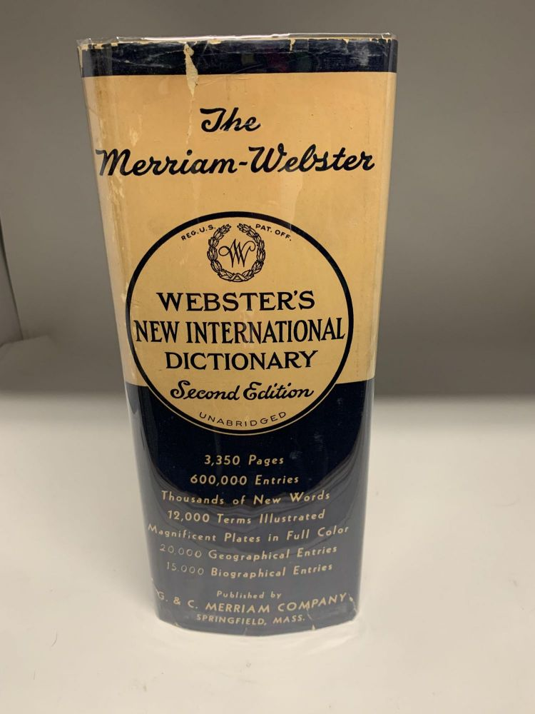 WEBSTER'S NEW INTERNATIONAL DICTIONARY OF THE ENGLISH LANGUAGE: SECOND EDITION, UNABRIDGED. Noah Webster.