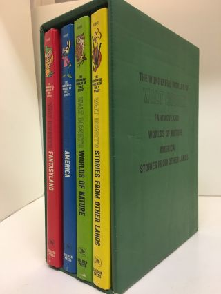THE WONDERFUL WORLDS OF WALT DISNEY (4 VOLUMES, Complete). Walt Disney.