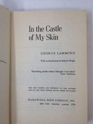 IN THE CASTLE OF MY SKIN (SIGNED)