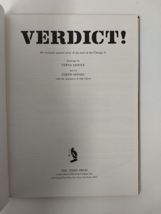 VERDICT! : THE EXCLUSIVE PICTURE STORY OF THE TRIAL OF THE CHICAGO 8