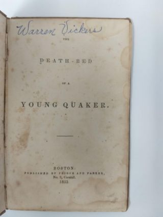 THE DEATH-BED OF A YOUNG QUAKER