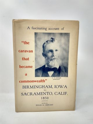 A JOURNAL OF THE BIRMINGHAM EMIGRATING COMPANY : THE RECORD OF A TRIP FROM BIRMINGHAM, IOWA, TO...