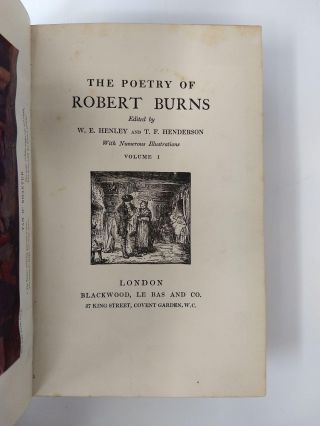 THE POETRY OF ROBERT BURNS CENTENARY EDITION . (4 VOLUMES, COMPLETE)