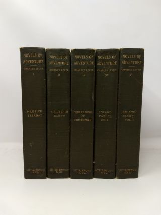 NOVELS OF ADVENTURE (5 Volumes); (The novels of Charles Lever). Charles Lever