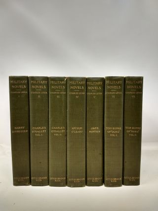 MILITARY NOVELS (7 VOLUMES); (THE NOVELS OF CHARLES LEVER). Charles Lever