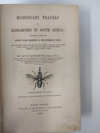 MISSIONARY TRAVELS AND RESEARCHES IN SOUTH AFRICA; INCLUDING A SKETCH OF SIXTEEN YEARS' RESIDENCE IN THE INTERIOR OF . AFRICA AND A JOURNEY FROM THE CAPE OF GOOD HOPE TO LOANDA ON THE WEST COAST, THENCE ACROSS THE CONTINENT, DOWN THE RIVER ZAMBESI, TO THE EASTERN OCEAN