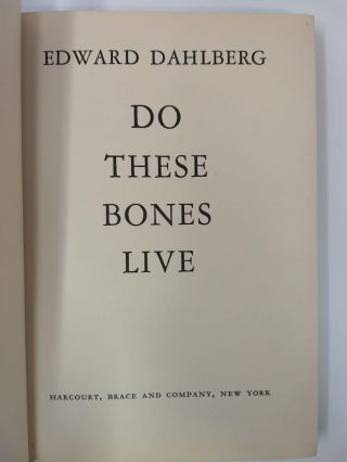 DO THESE BONES LIVE (SIGNED)