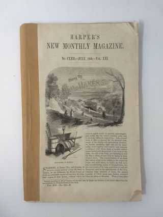 A PLEA FOR A MONSTER (In Harper's New Monthly Magazine, No. CXXII -- July, 1860.-- Vol. XXI....