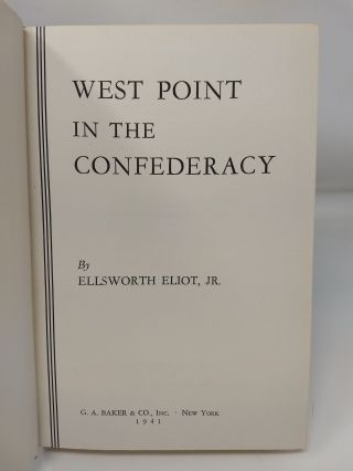 WEST POINT IN THE CONFEDERACY