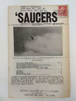 SAUCERS : VOLUME IV, NUMBER 4. WINTER 1956. Max B. Miller