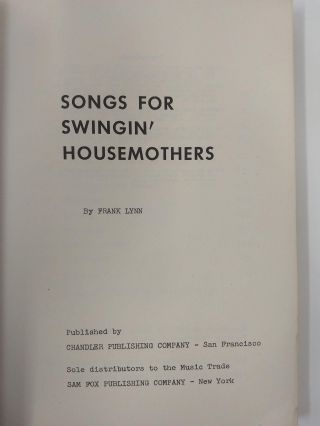 SONGS FOR SWINGIN' HOUSEMOTHERS