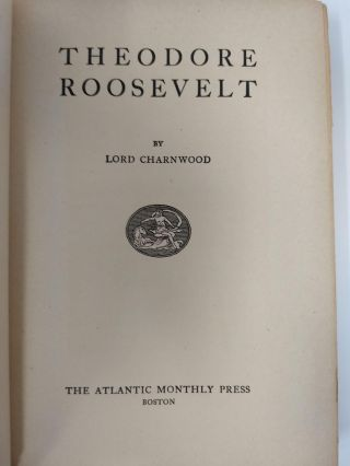 THEODORE ROOSEVELT [SIGNED COPY]