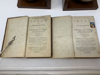 THE INCAS : OR, THE DESTRUCTION OF THE EMPIRE OF PERU : TWO VOLUMES