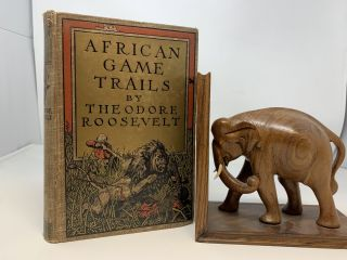 AFRICAN GAME TRAILS: AN ACCOUNT OF THE AFRICAN WANDERINGS OF AN AMERICAN HUNTER-NATURALIST; (With...