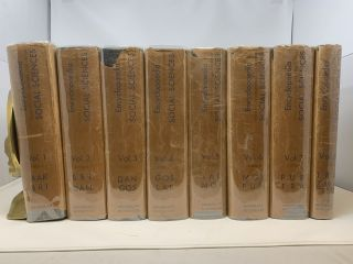 ENCYCLOPAEDIA OF THE SOCIAL SCIENCES (15 Volumes in 8 Bindings, Complete). Edwin Seligman,...