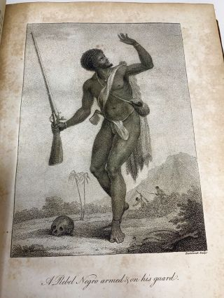 NARRATIVE OF A FIVE YEARS' EXPEDITION AGAINST THE REVOLTED NEGROES OF SURINAM, IN GUIANA, ON THE WILD COAST OF SOUTH AMERICA; FROM THE YEAR 1772, TO 1777: ELUCIDATING THE HISTORY OF THAT COUNTRY, AND DESCRIBING ITS PRODUCTIONS, VIZ. QUADRUPEDES, BIRDS, FISHES, REPTILES, TREES, SHRUBS, FRUITS, & ROOTS, WITH AN ACCOUNT OF THE INDIANS OF GUIANA, & NEGROES OF GUINEA (TWO VOLUMES, COMPLETE); Narrative of a five years' expedition against the revolted Negroes of Surinam, in Guiana, on the wild coast of South America, from the year 1772 to 1777… with an account of the Indians of Guiana & Negroes of Guinea.