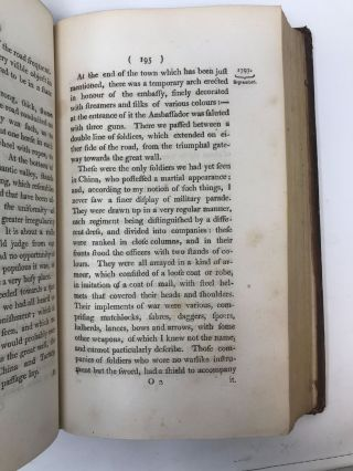 A NARRATIVE OF THE BRITISH EMBASSY TO CHINA, IN THE YEARS 1792, 1793, AND 1794; CONTAINING THE VARIOUS CIRCUMSTANCES OF THE EMBASSY; WITH ACCOUNTS OF THE CUSTOMS AND MANNERS OF THE CHINESE; AND A DESCRIPTION OF THE COUNTRY, TOWNS, CITIES, &c &c.; A Narrative of the British Embassy to China, in the Years 1792, 1793, and 1794; containing the Various Circumstances of the Embassy, with Accounts of Customs and Manners of the Chinese; and a Description of the country, Towns, Cities etc.etc.