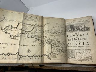 THE TRAVELS OF SIR JOHN CHARDIN INTO PERSIA AND THE EAST INDIES. THE FIRST VOLUME, CONTAINING THE AUTHOR'S VOYAGE FROM PARIS TO ISPAHAN : TO WHICH IS ADDED THE CORONATION OF THIS PRESENT KING OF PERSIA, SOLYMAN THE THIRD