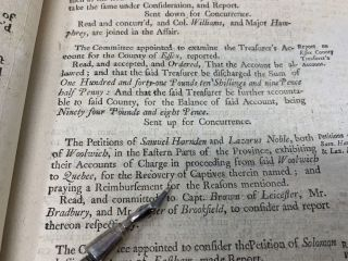 JOURNAL OF THE HONOURABLE HOUSE OF REPRESENTATIVES OF HIS MAJESTY'S PROVINCE OF THE MASSACHUSETTS-BAY, IN NEW-ENGLAND, BEGUN AND HELD AT BOSTON, IN THE COUNTY OF SUFFOLK, ON WEDNESDAY THE TWENTY-SIXTH DAYOF MAY, ANNOQUE DOMINI, 1762