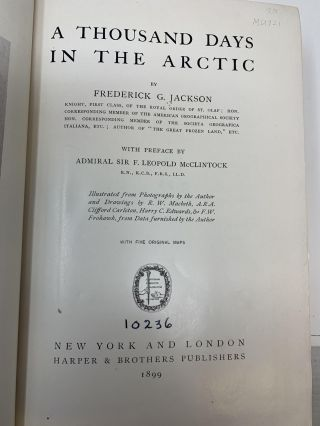 A THOUSAND DAYS IN THE ARCTIC; (with Preface by Admiral Sir F. Leopold McClintock)